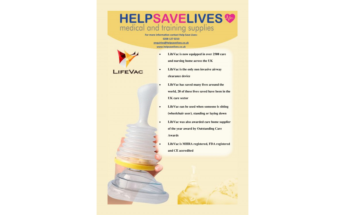 LifeVac Anti-Choking Device Saves Lives!