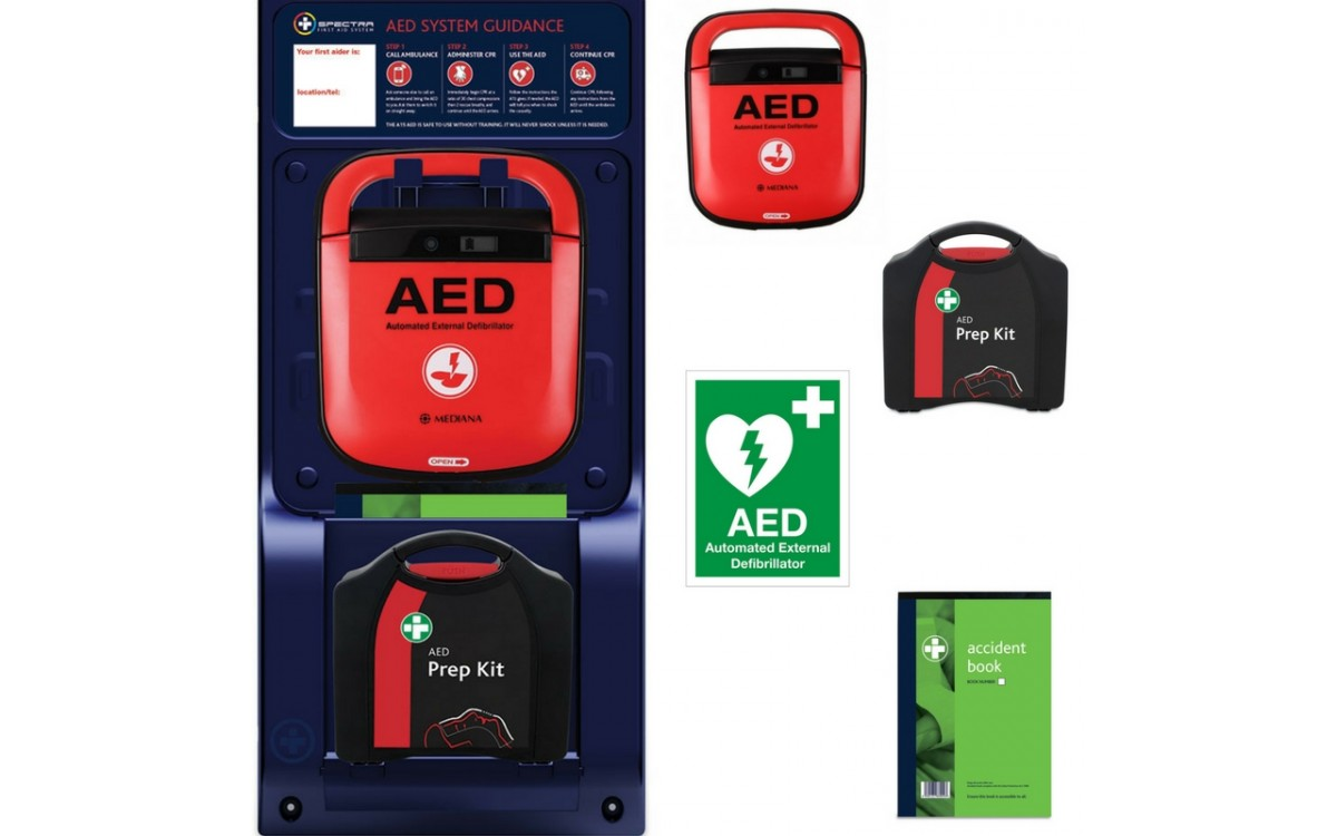 Mediana Spectra AED Station + Free Mediana AED E-Learning Course