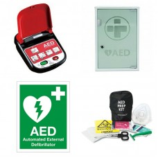 Mediana AED Defibrillator Package with Indoor Cabinet