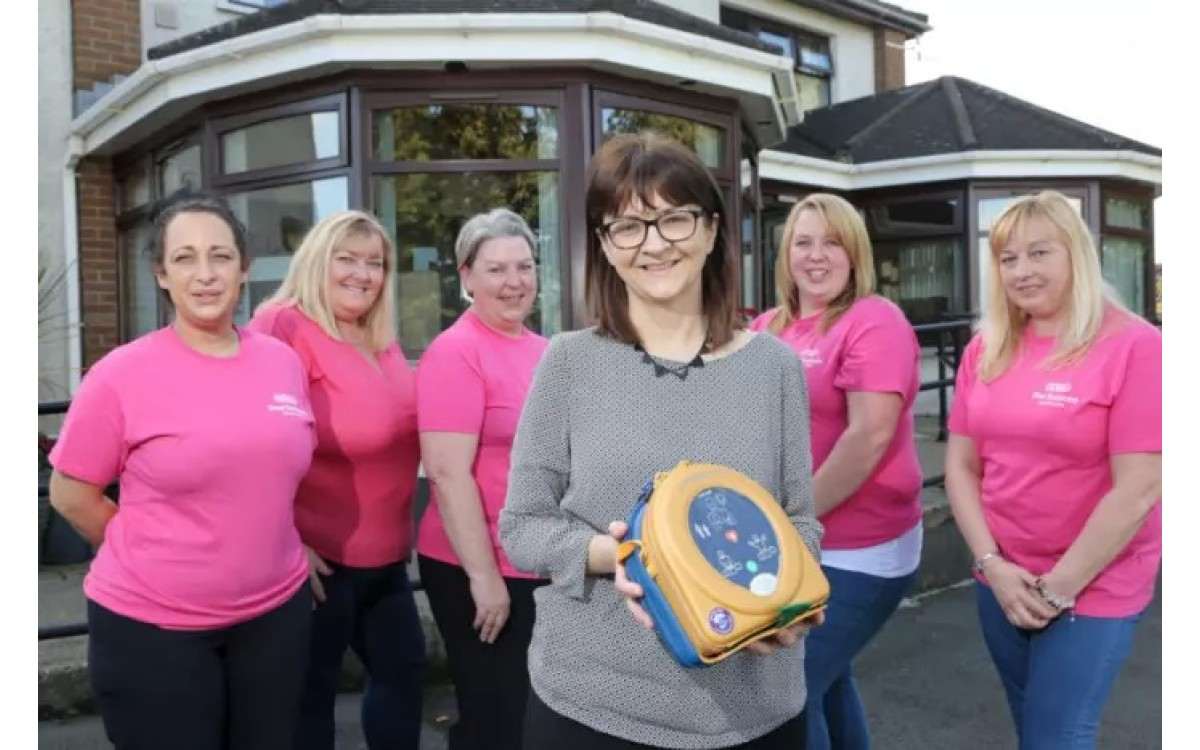 Defibrillator installed at Annahilt Care Home